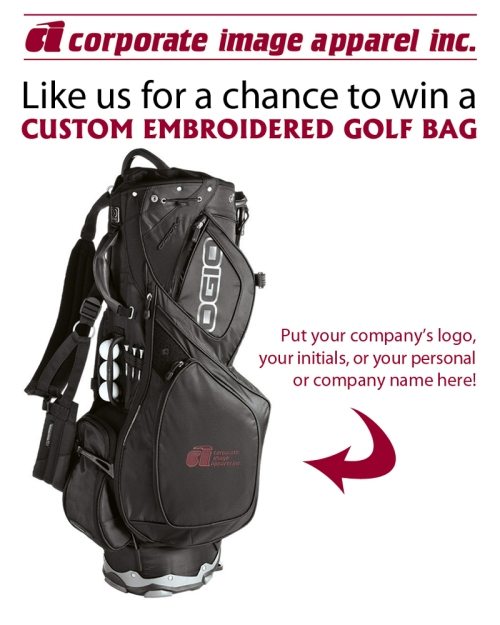 Win a Custom Embroidered Golf Bag!