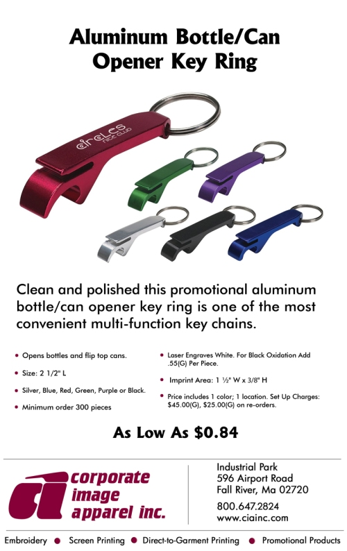 Weekly Spotlight: Aluminum Bottle/Can Opener Key Ring