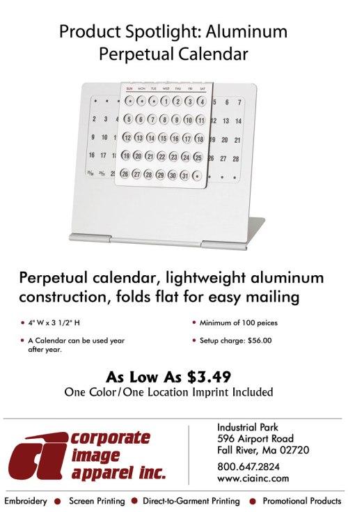Product Spotlight: Aluminum Perpetual Calendar
