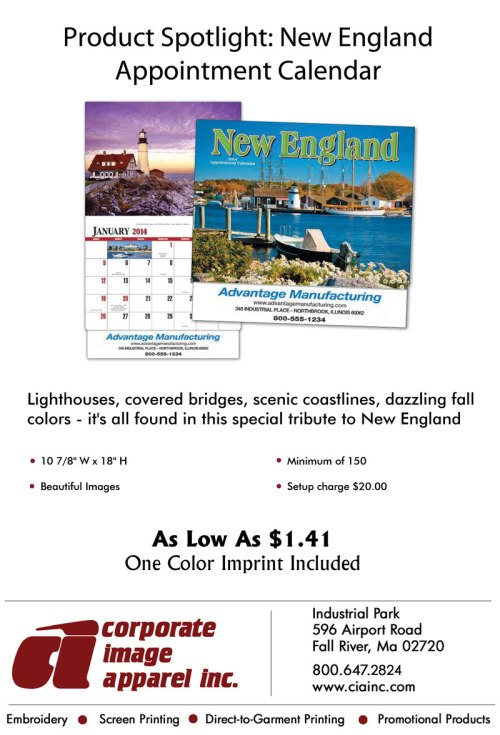 Product Spotlight: New England Calendar