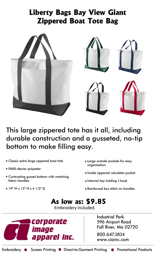 71ec7ee8f567f Product Spotlight  Liberty Bags Bay View Giant Zippered Boat Tote ...