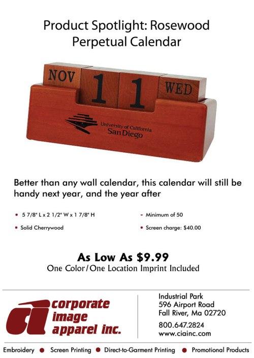 Product Spotlight: Rosewood Perpetual Calendar