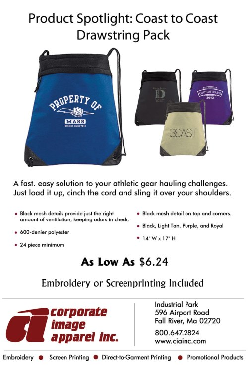 Product Spotlight: Coast to Coast Drawstring Pack