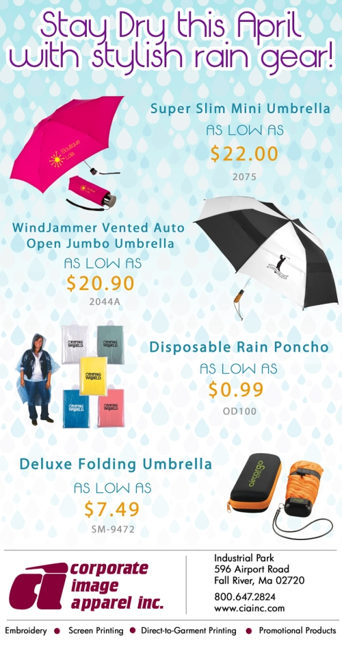Stay Dry this April with Stylish Rain Gear.