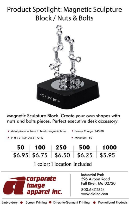 Product Spotlight: Magnetic Sculpture Block / Nuts & Bolts